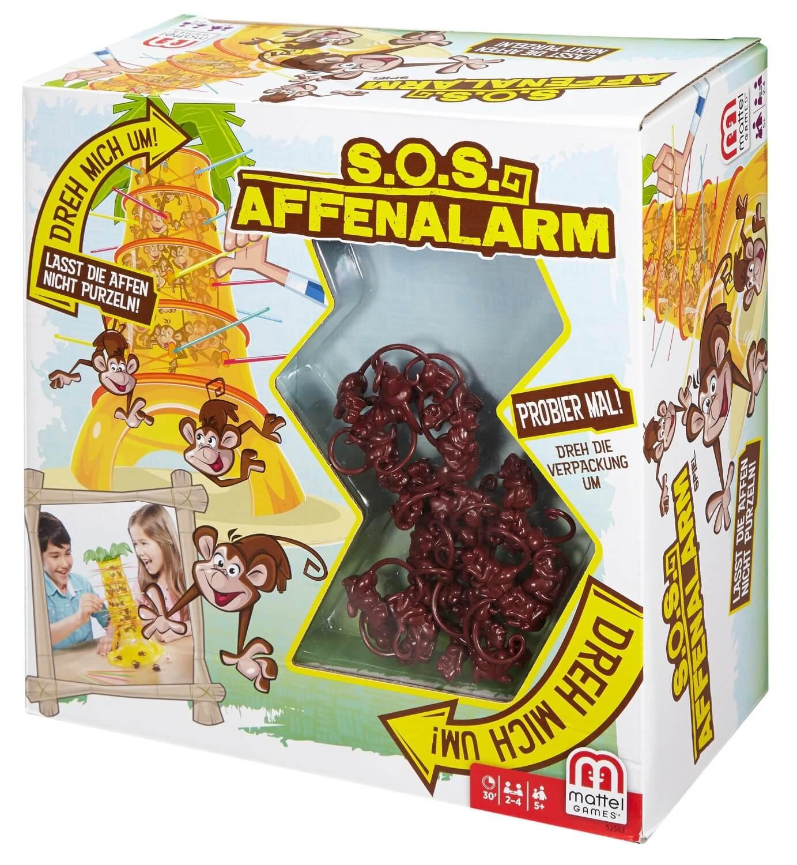 Schachtel Vorderseite - Lasst die Affen los!- SOS Affenalarm