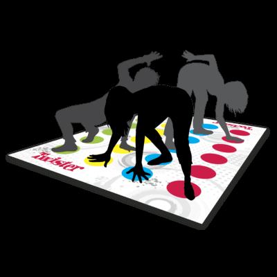 Spielmatte mit Personen- Twister