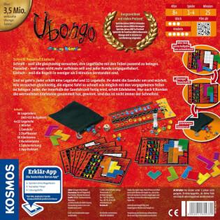 Schachtel Rückseitel- Ubongo - Neue Edition