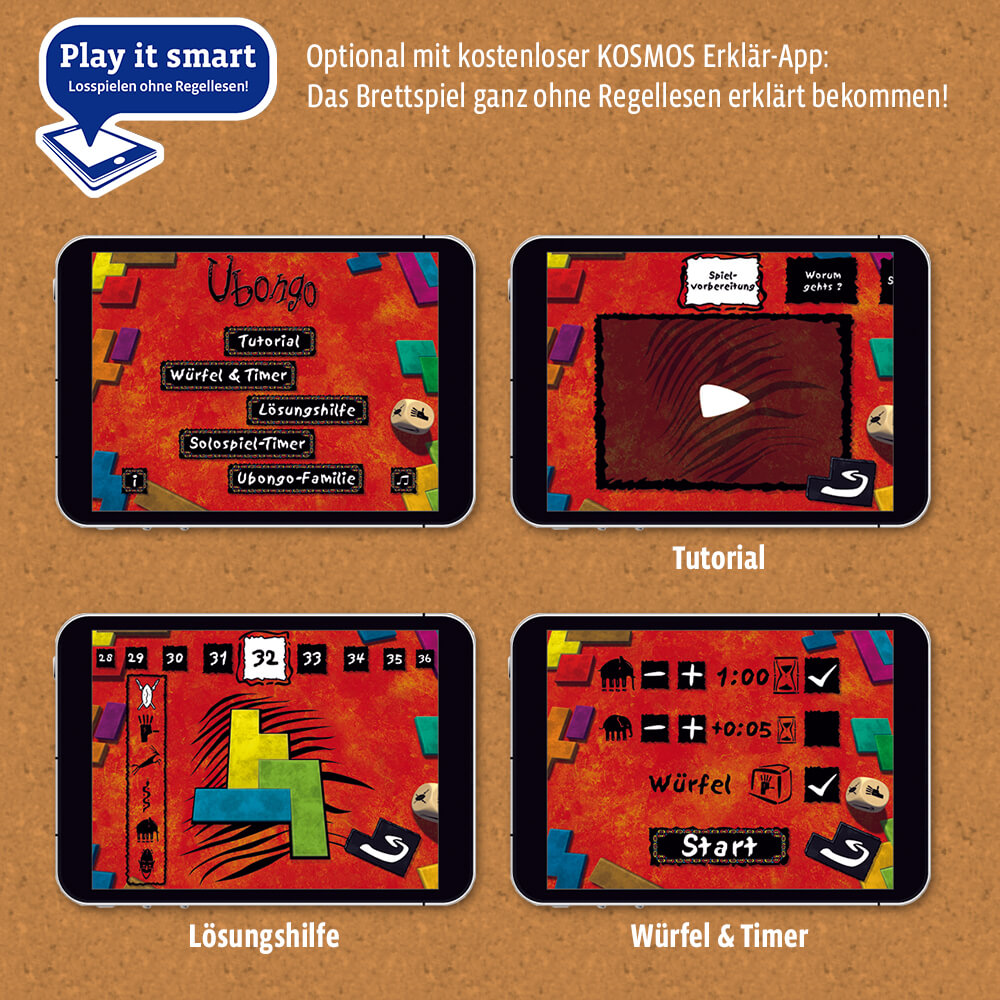 KOSMOS Erklär-App - Ubongo - Neue Edition