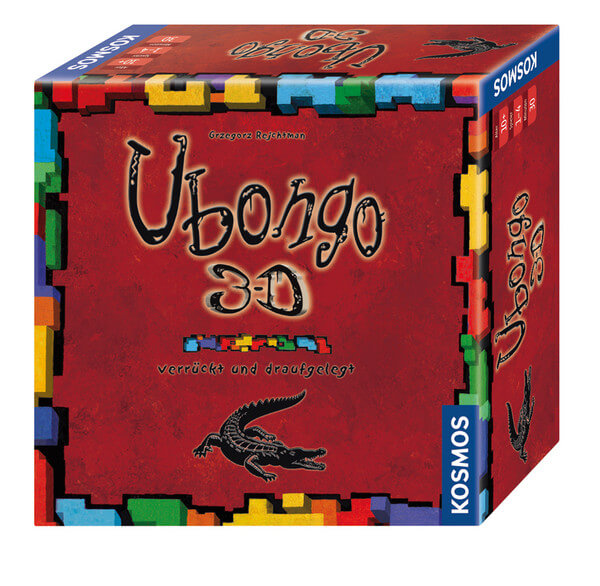 Schachtel Vorderseite, rechte Seite- Ubongo - 3-D