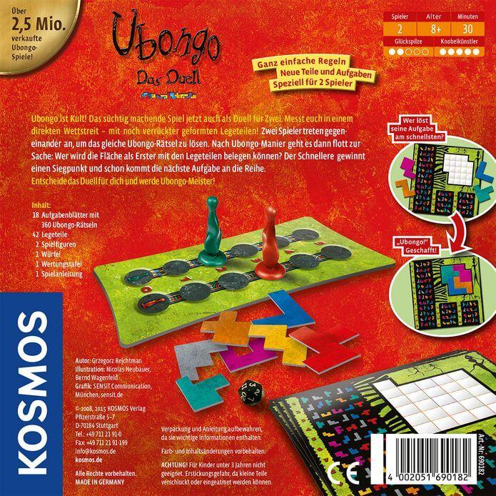 Schachtel Rückseite- Ubongo - Das Duell