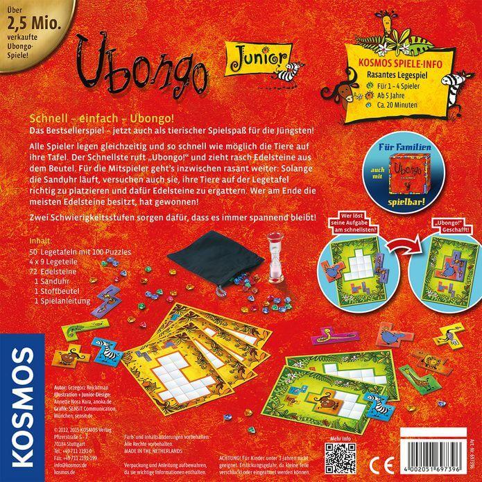 Schachtel Rückseite- Ubongo - Junior