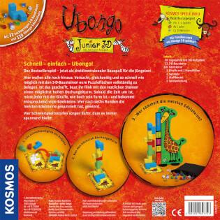 Schachtel Rückseite- Ubongo - Junior 3-D