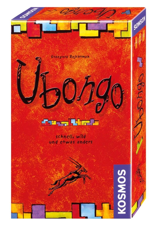 Schachtel Vorderseite, rechte Seite- Ubongo - Mitbringspiel
