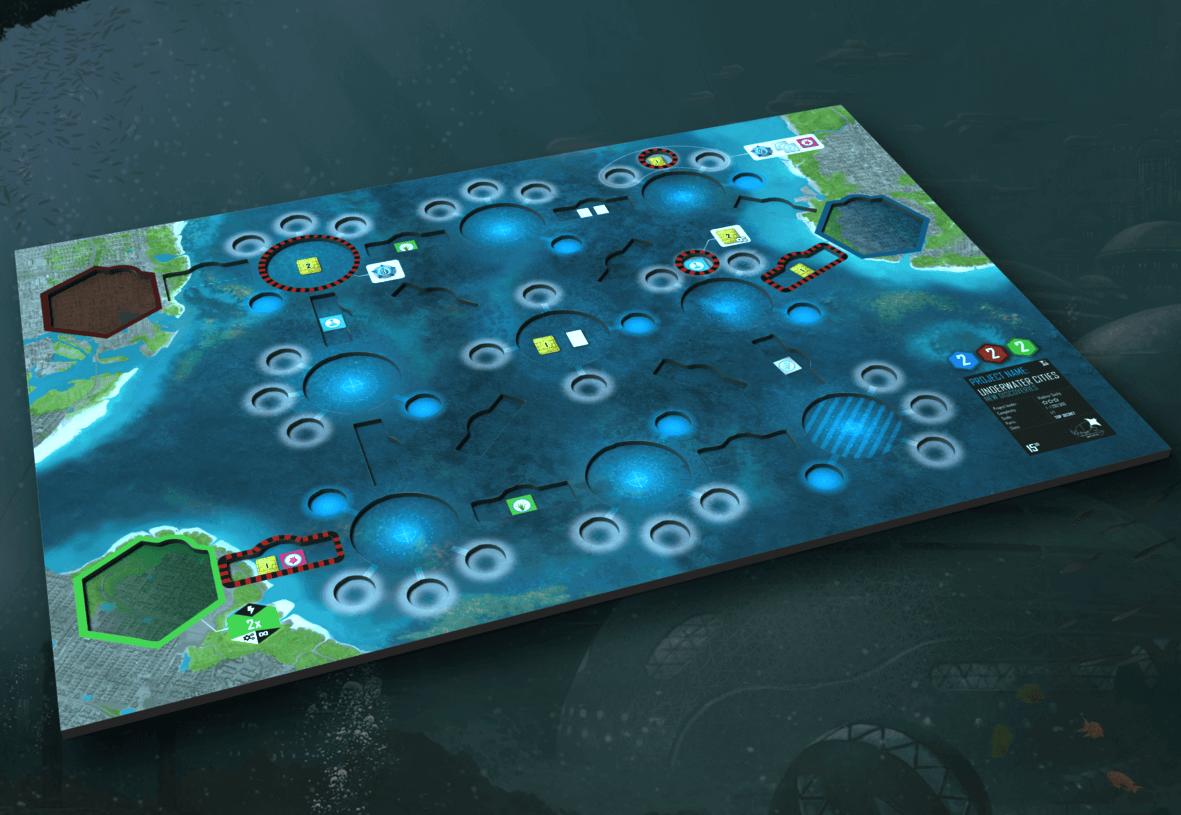 Spielerplan 3D- Underwater Cities: Neue Entdeckungen
