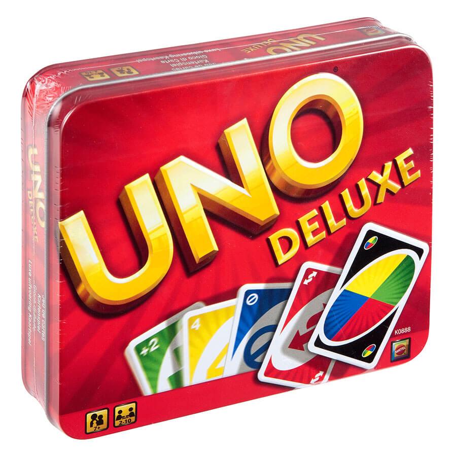 Schachtel Vorderseite- UNO - Deluxe
