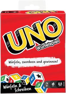 Schachtel Vorderseite- UNO - Das Würfelspiel