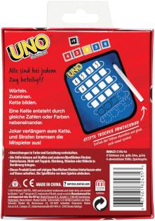 Schachtel Rückseite- UNO - Das Würfelspiel