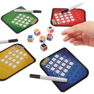 Spielmaterial - Würfel, Block und Stift- UNO - Das Würfelspiel