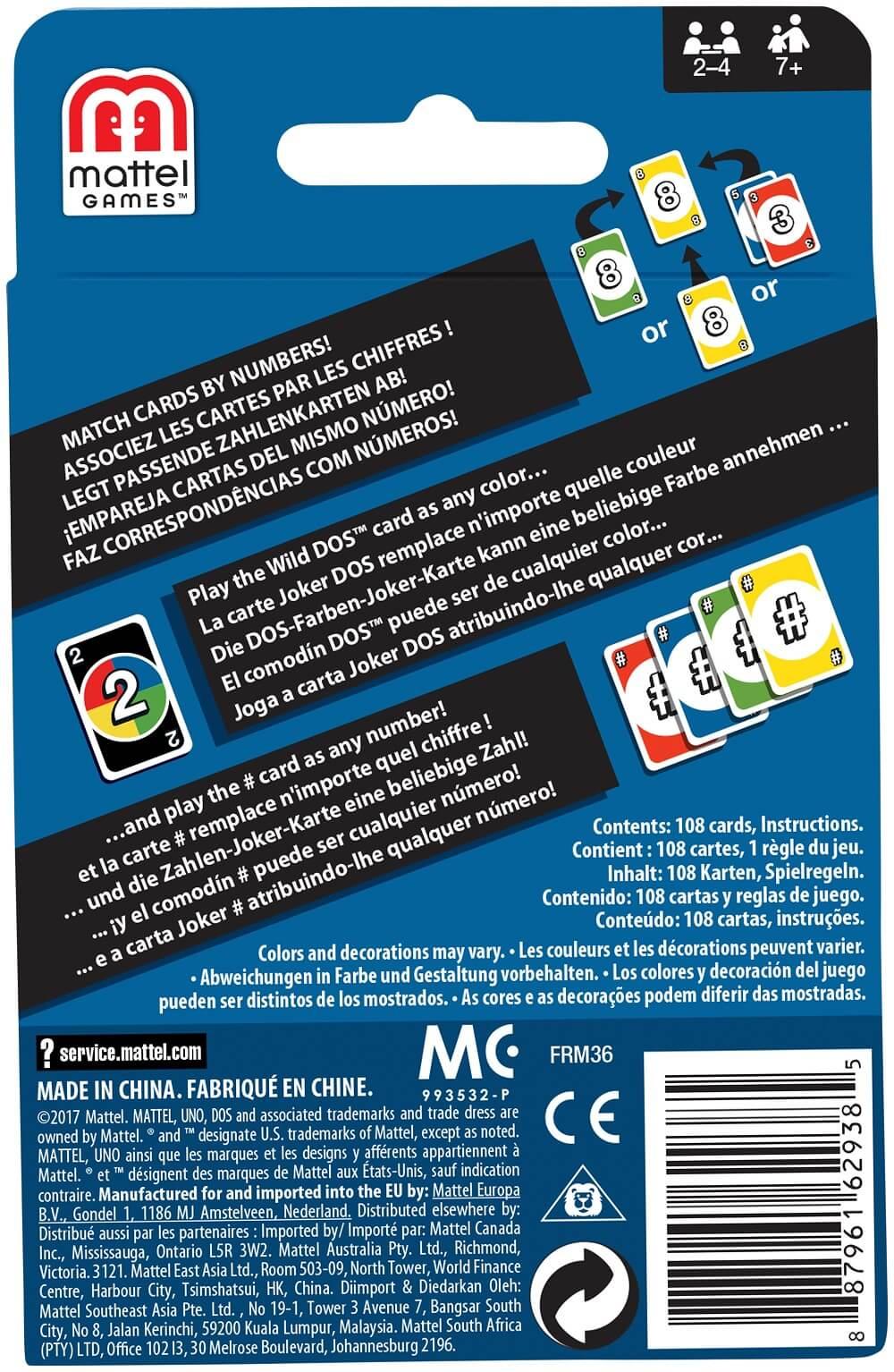 Schachtel Rückseite- DOS - The card game