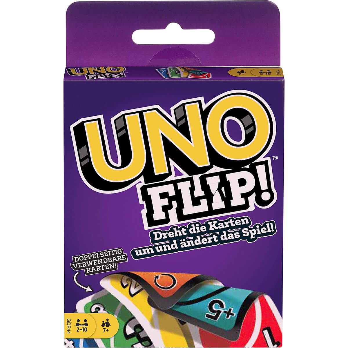 Schachtel Vorderseite- UNO - Flip