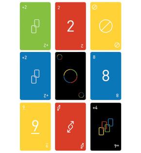 Spielkarten- UNO - Minimalista