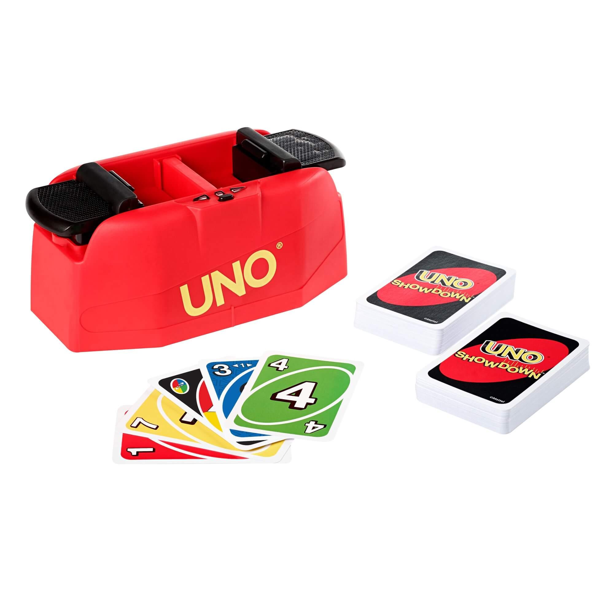 Spielkarten und Maschine- UNO - Showdown