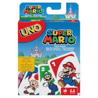 Schachtel Vorderseite- UNO - Super Mario
