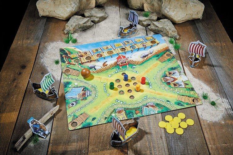 Spielmaterial - Kinderspiel des Jahres 2019- La vallée des Vikings