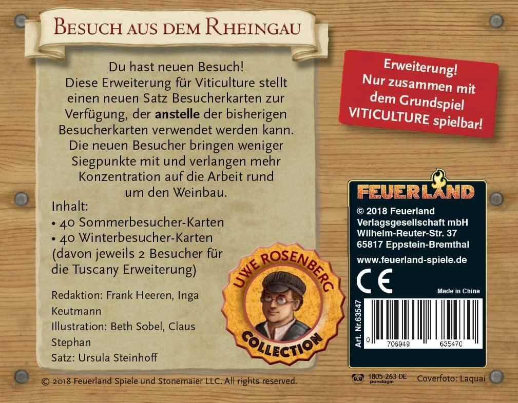 Schachtel Rückseite- Viticulture: Besuch aus dem Rheingau