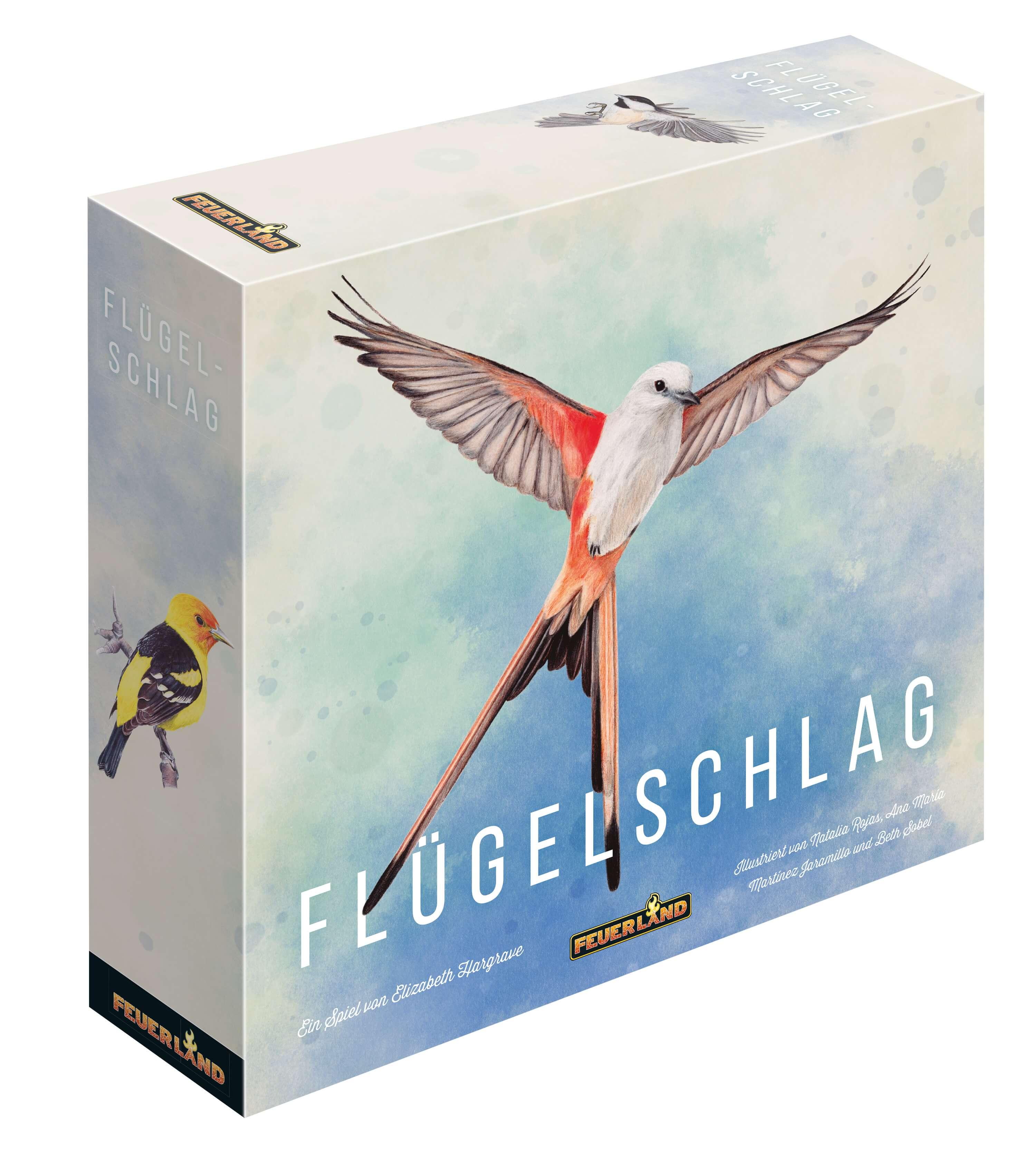 Schachtel Vorderseite - Kennerspiel des Jahres 2019- Flügelschlag