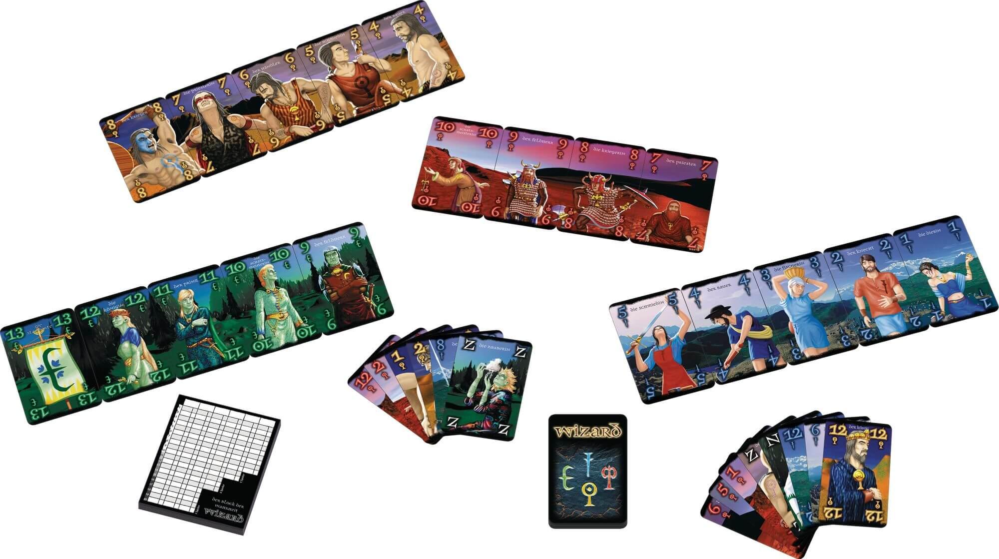 Spielmaterial - Blöcke und Karten- Mago