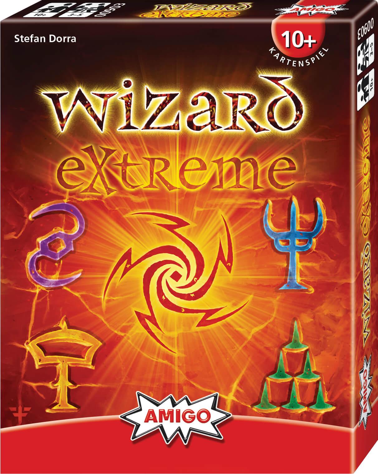 Schachtel Vorderseite, rechte Seite- Wizard Extreme