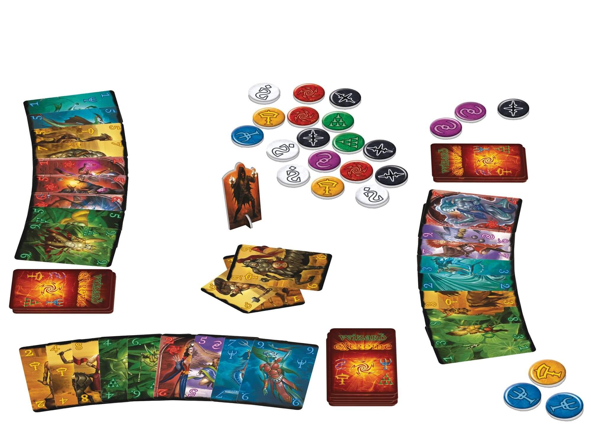 Spielmaterial - Spielkarten und Spielmünzen- Wizard Extreme