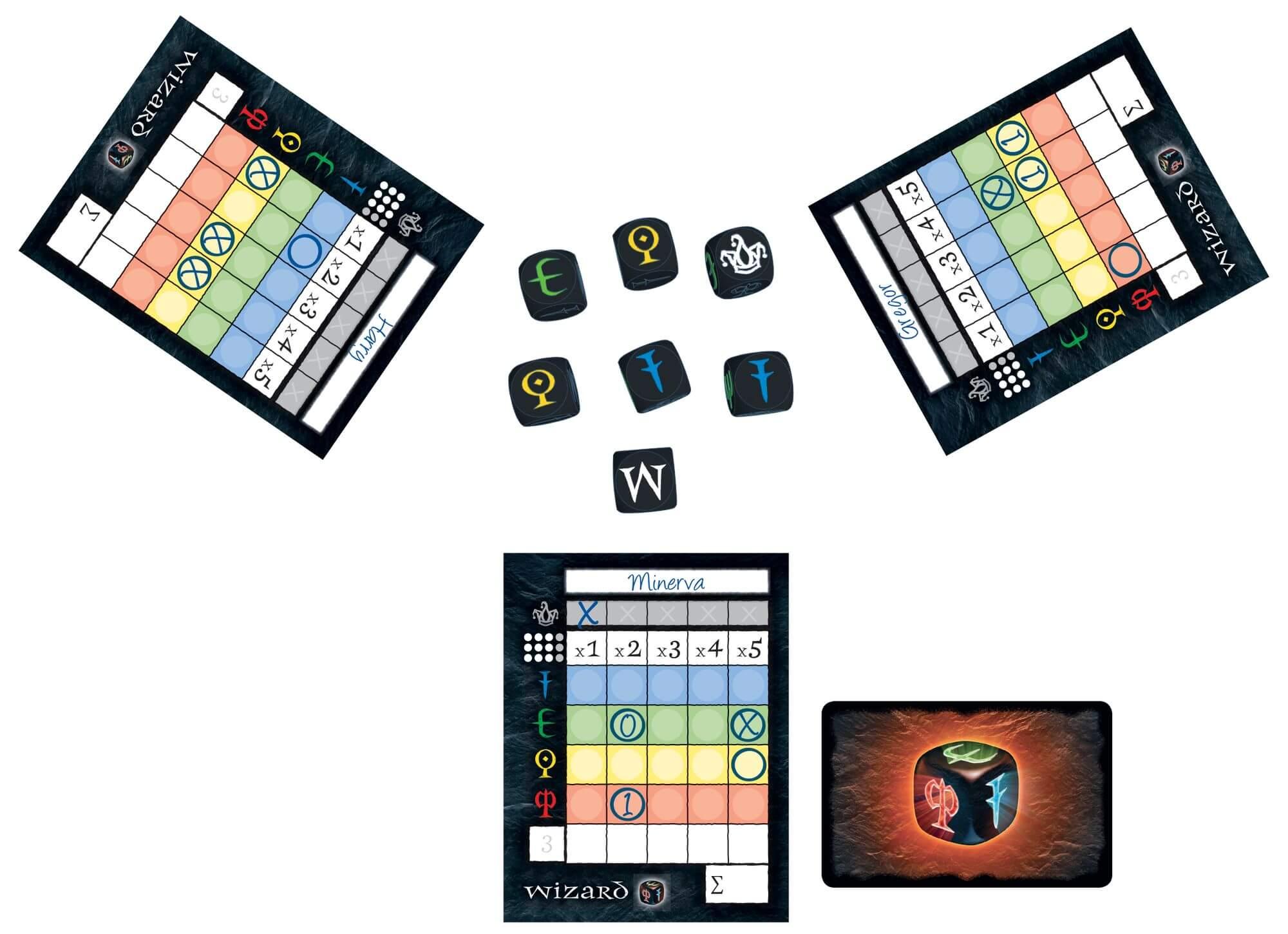 Spielmaterial- Wizard Würfelspiel