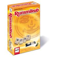 Schachtel Vorderseite, linke Seite - Wort Rummikub