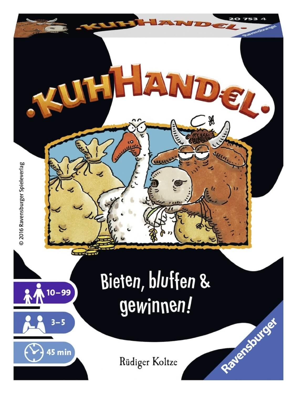 Schachtel Vorderseite - Der Klassiker - Bieten, bluffen & gewinnen!- Kuhhandel