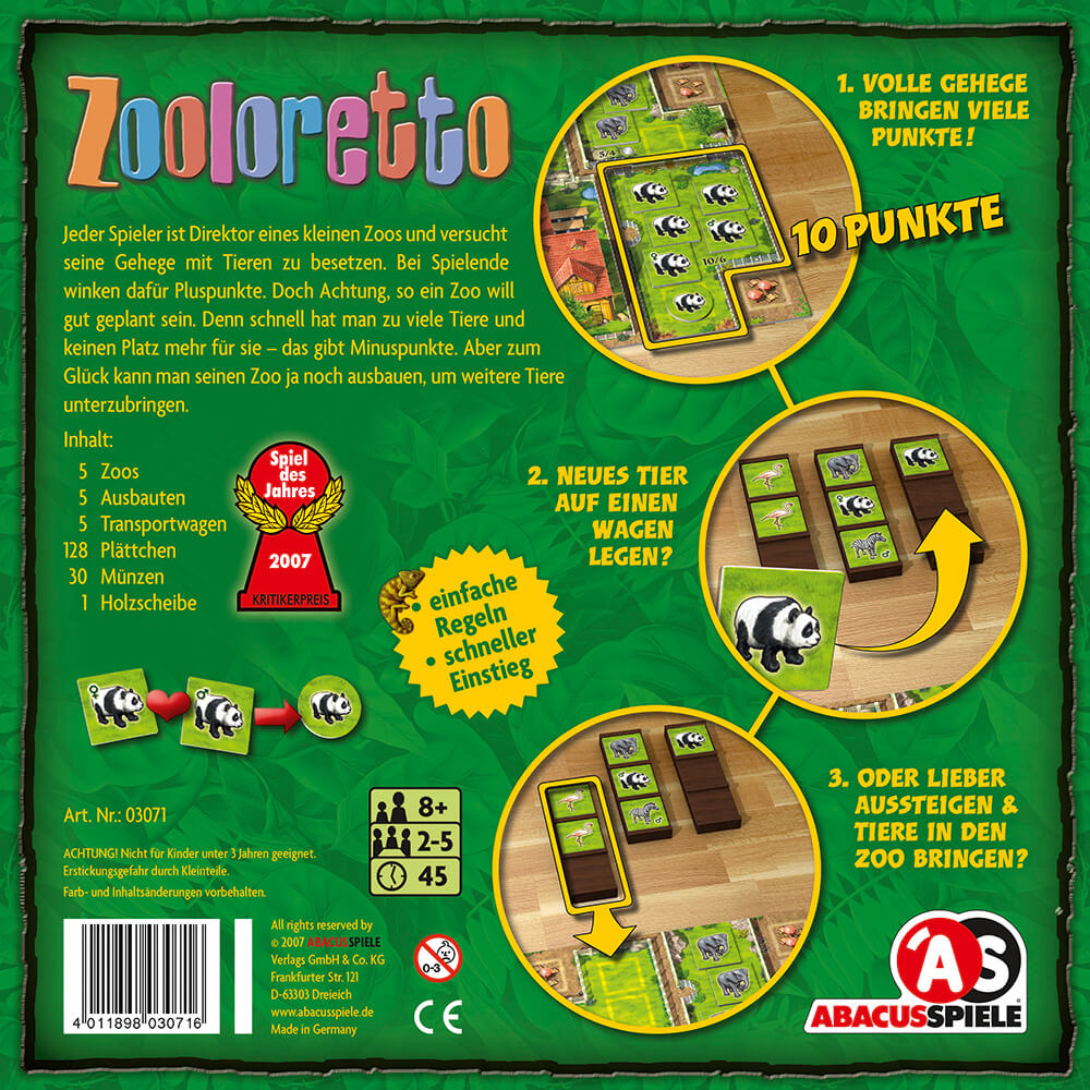 Schachtel Rückseite- Zooloretto