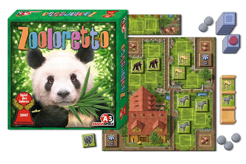 Schachtel und Spielmaterial- Zooloretto