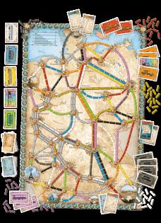 Spielmaterial und Spielplan- Zug um Zug - Deutschland