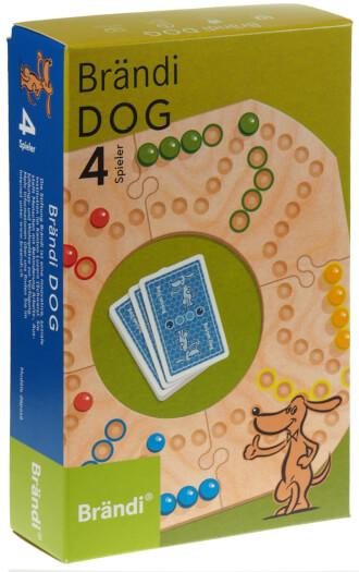Schachtel des bekannten Kultspiels Brändi Dog
