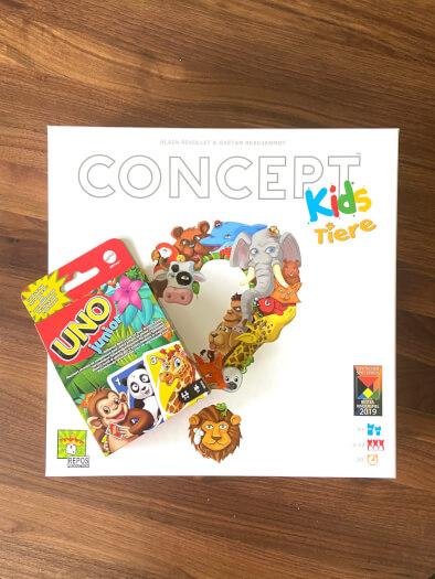 Concept Kids - Tiere und Uno Junior - Spieleschachteln