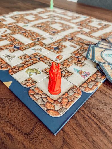 Das verrückte Labyrinth - Spielbrett und Spielfigur