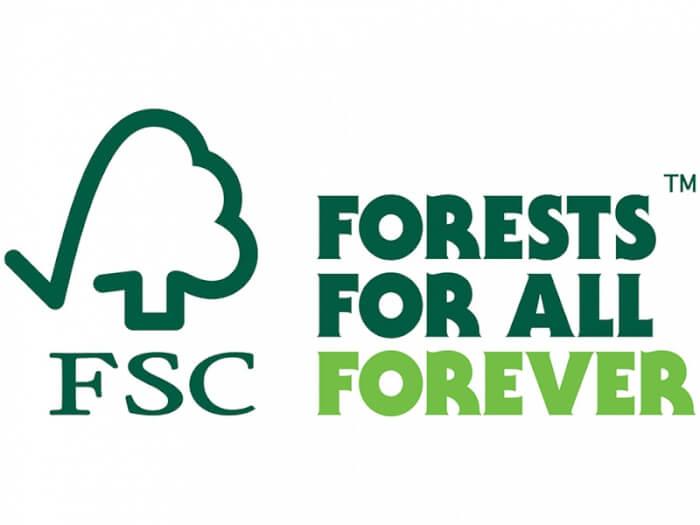 Das Logo des FSC - Forests for all forever