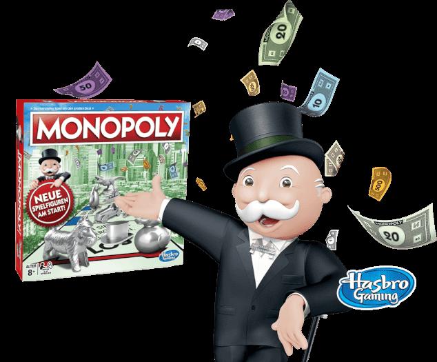 Monopoly Spiel mit Mr. Monopoly