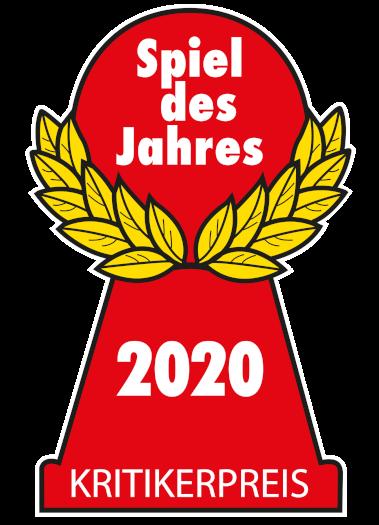 Roter Pöppel/Halmagekelsymbol des Spiel des Jahres 2020