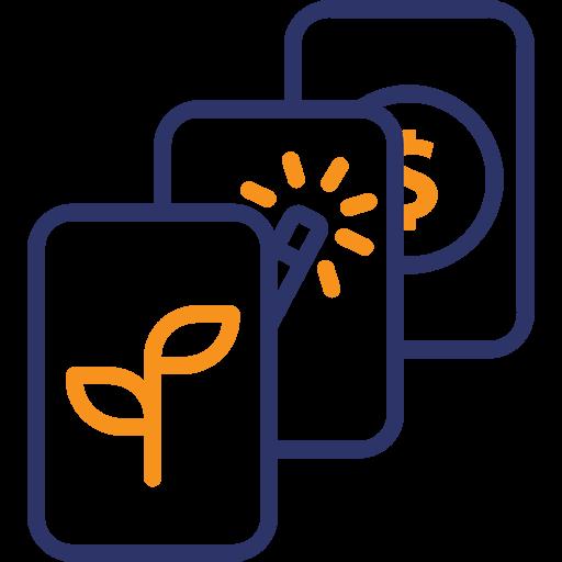 Themen-Icon mit verschiedenen Themen